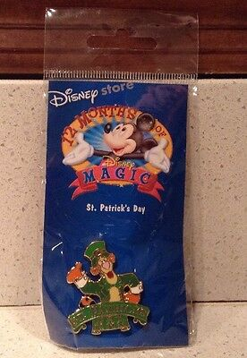 Tigger St. Patrick's Day Pin Disney Store 12 Months of Magic 2002 NEW