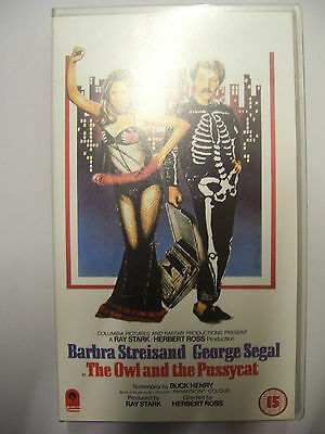 THE OWL AND THE PUSSYCAT [1970] VHS – Barbra Streisand, George Segal – RARE!