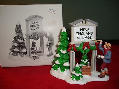 Dept 56 Heritage Village Collection  FRESH PAINT (N.E. TOWN SIGN) 56592