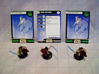 WotC Star Wars Miniatures Young Jedi Knight, Universe 56/60,New R, Com, Lot of 3