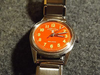 Vintage Favre Leuba Sea King 17 jewel 30mm hand winding watch