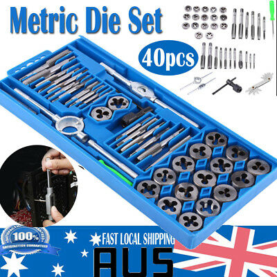 Hot 40X QUALITY HARDENED METRIC TAP & DIE SET Screw Thread Taper Drill Tool Set
