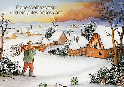 B3832pac Greetings Christmas Frohe Weihnachten postcard