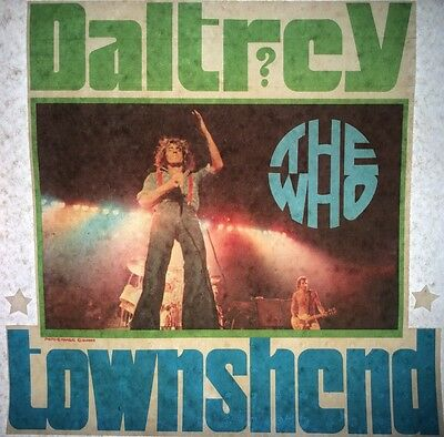 Vintage 70s The Who Daltrey & Townshend Mini Iron-On Transfer Rock & Roll RARE