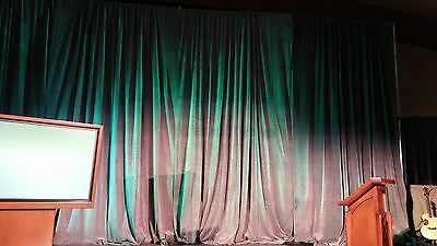 Gray Heavy Duty Velvet Stage Backdrop Drape Curtain Partition Panel 18 x 8 FR