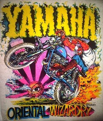 Vintage 1971 Yamaha Oriental Wizardry Motorcycle Iron-On Transfer by Roach RARE!