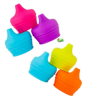 Boon Snug Spout Pack of 3 Lids | Baby Sipper Cup Lids -Silicone Sippy Cup Lids