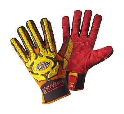 Dickies Mens Heavy Duty Deck Hand Impact Glove Orange/Red Various Size GL01DH