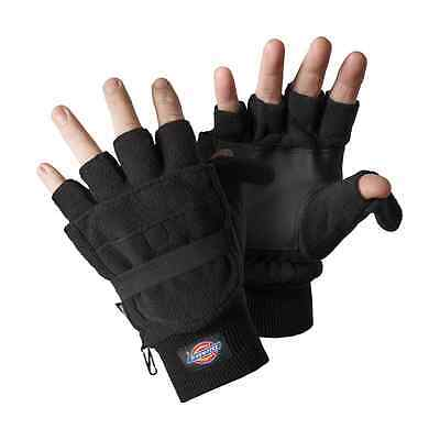 Dickies Mens Half Finger Gloves Black/Grey/Navy Blue Various Size GL8005