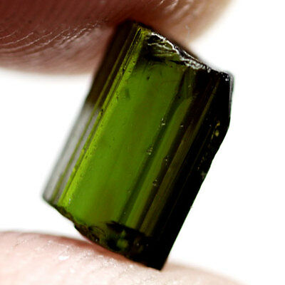 3.11Ct.unheated! Rough Neon Green Natural Crystal Tourmaline Nigeria