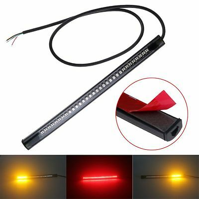 12V 48LED Motorcycle Tail Light Strip Brake Stop Turn Signal Lamp Bar Waterproof