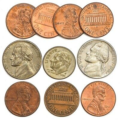 Lot 20 United States Of America One Cent USA Lincoln Penny Coins 1951 - Present