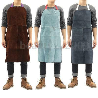 Welder Apron Heat Insulation Cow Leather Heavy Duty Welding Protection 60x90cm