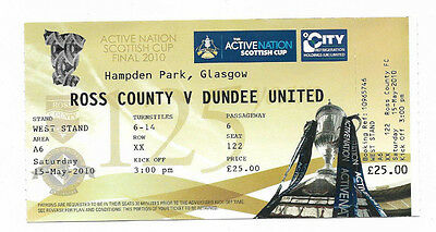 Ticket 2010 Scottish Cup Final - DUNDEE UNITED v. ROSS COUNTY