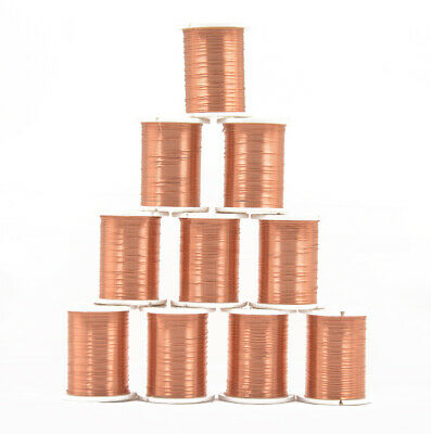 10 Rolls Copper Wire Beading Thread String Jewelry Making Cord 0.3mm Copper