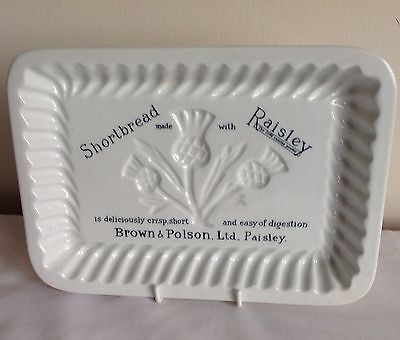 Maling Advertising Brown & Polson Ltd Paisley Shortbread Thistle Mould