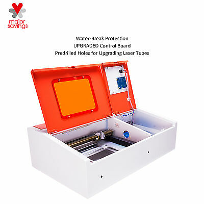 UPGRADED 12''x8'' High Precision 40W CO2 Laser Engraver w/Water-Break Protection
