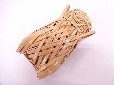 2810097: Japanese Tea Ceremony / Semikago Hanaire (Basket Flower Vase) / Bamboo