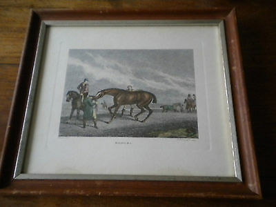 Antique Engraving - Racing. P.3 - Howitt - Framed - 1799 - Horse Racing interest