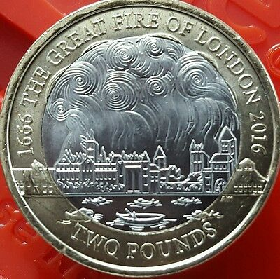 Rare £2 The Great Fire Of London 1666 £2 Coin 2016⭐⭐⭐⭐⭐⭐⭐⭐⭐