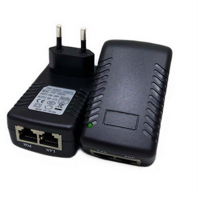48V/0.5A Wall Plug POE Injector Ethernet Adapter Power Supply EU for CCTV Camera