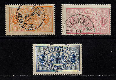 Sweden, 1881-1893, Service stamps, used