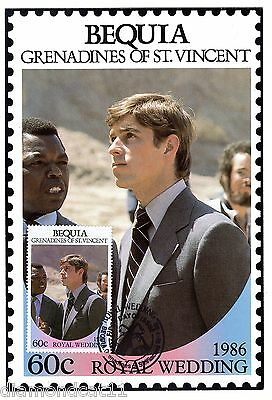 1986 Grenadines of St Vincent PHQ CARD 18/7/1986 ROYAL WEDDING FINE Used R27225