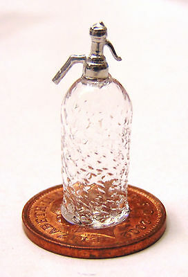 1:12 Scale Patterned Glass Soda Syphon Dolls House Miniature Drink Accessory GC