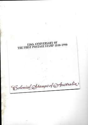 150Th Anniversary Colonial Stamps Of Australia Mint Sheet Of Stamps In Folder