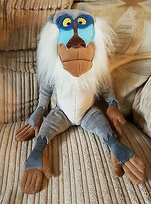 Disney store exclusive rafiki soft plush toy lion king baboon monkey