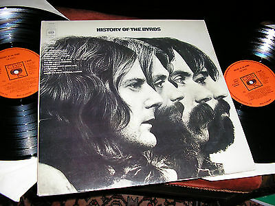 THE BYRDS  -   History Of The Byrds,      ORIGINAL 1973 UK DOUBLE-LP.... EX