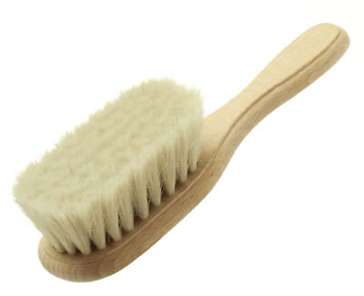 Hydrea London Baby Brush with Super Soft Goat's Hair Bristles & Beechwood Handle