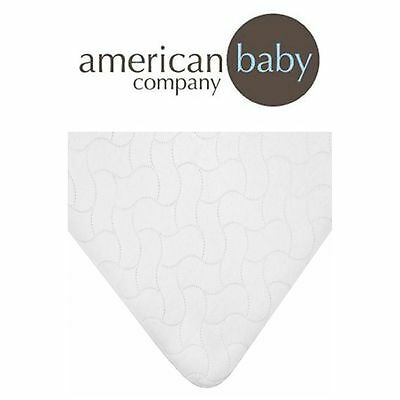 Toddler Mattress Pad Cover Waterproof Embossed Quilt Flat Crib Protective Bed