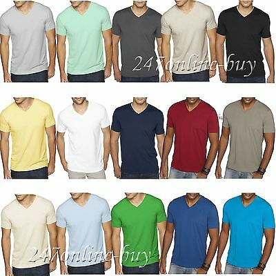 823da0604bb Next Level Mens Premium Fitted Sueded V Neck T Shirt Vneck Tee XS-2XL 6440