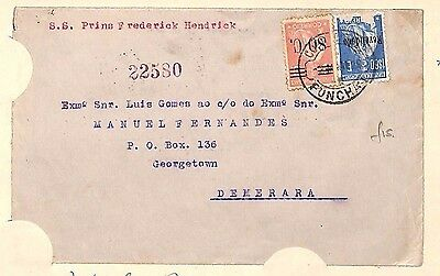 H1 1932 Portugal Madeira British Guiana Cover {samwells-covers}PTS