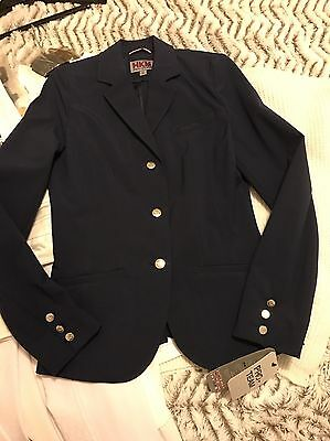 HKM New SoftShell Horse Riding Water Resistant Pro Competition NAVY 36
