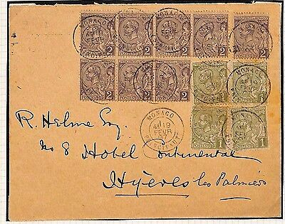 H4 1897 Monaco Hyeres France Cover {samwells-covers}PTS