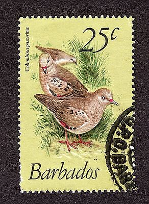 1979 Barbados 25c Scaly breasted ground dove SG629 GOOD USED R31080