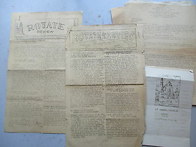 WWII Grouping - TWO 12/45 Shipboard Newspapers, SIX Church Programs Germany 1945