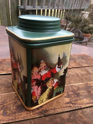 Coca-Cola Stoneware Cansiter Christmas Holiday Portraits