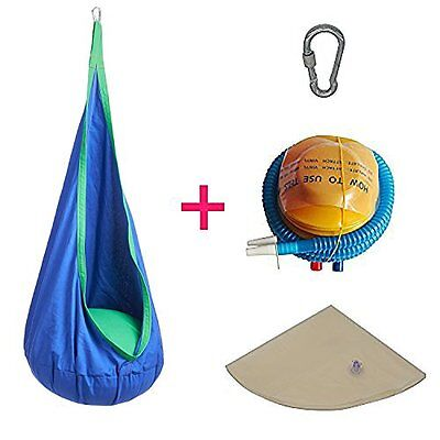 Hanging Pod Chair Indoor Hammock Inflatable Pillow 2 Great Colors Cozy Reading