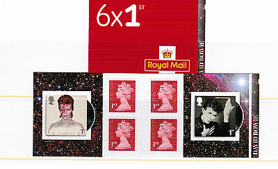 David Bowie 6 x 1st Retail Stamp Booklet with codes M17L & MCIL PreRelease Order
