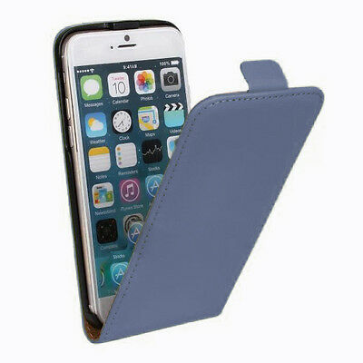 New Stylist Blue PU leather Phone Flip Case Cover For Iphone 5S {{k75