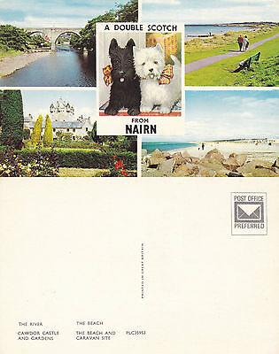 1970's MULTI VIEWS OF NAIRN NAIRNSHIRE SCOTLAND UNUSED COLOUR POSTCARD