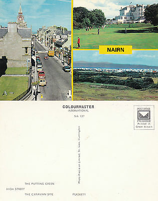 1960's MULTI VIEWS OF NAIRN NAIRNSHIRE SCOTLAND UNUSED COLOUR POSTCARD