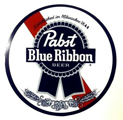 "Pabst Blue Ribbon Beer 7"" Diameter Tin Sign - New-"