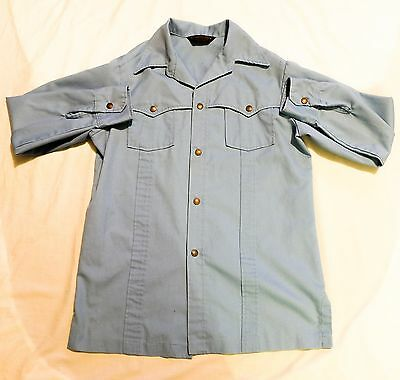 Vintage 70's Cowboy Western Shirt (Large Collar) Mod Hipster Retro