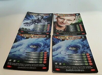 Dr Who Battles in Time Trading Cards (2006,) 4 cards 043 x2, 177 and 181