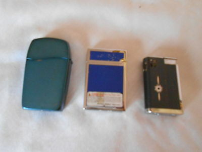 Lot of 3 Gas Lighters DUB/Kaywoodie/Zippo Blu