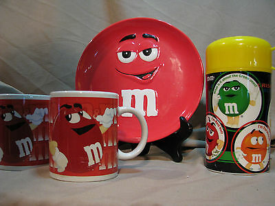 M&Ms Character Mug,Plate and Thermos